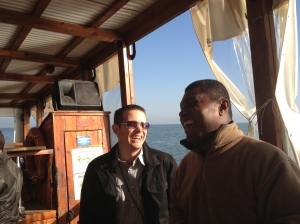 the boat had a Nigerian worship CD! We were jamming to that.