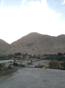 Most agree that this is the mountain where Jesus was tempted to Jump after fasting for 40 days.