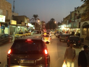 Jericho at night. It was busy.